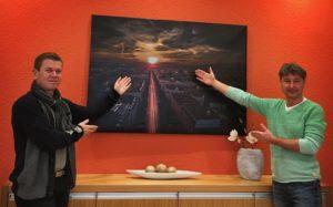 Motiv im Foyer SK Media Zahngesundheit Halle Zahnarzt Roger Barz