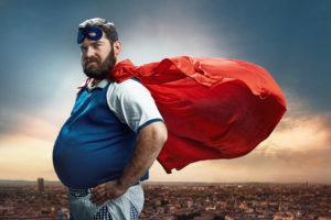 Mann übergewichtig Zahnarztpraxis Roger Barz