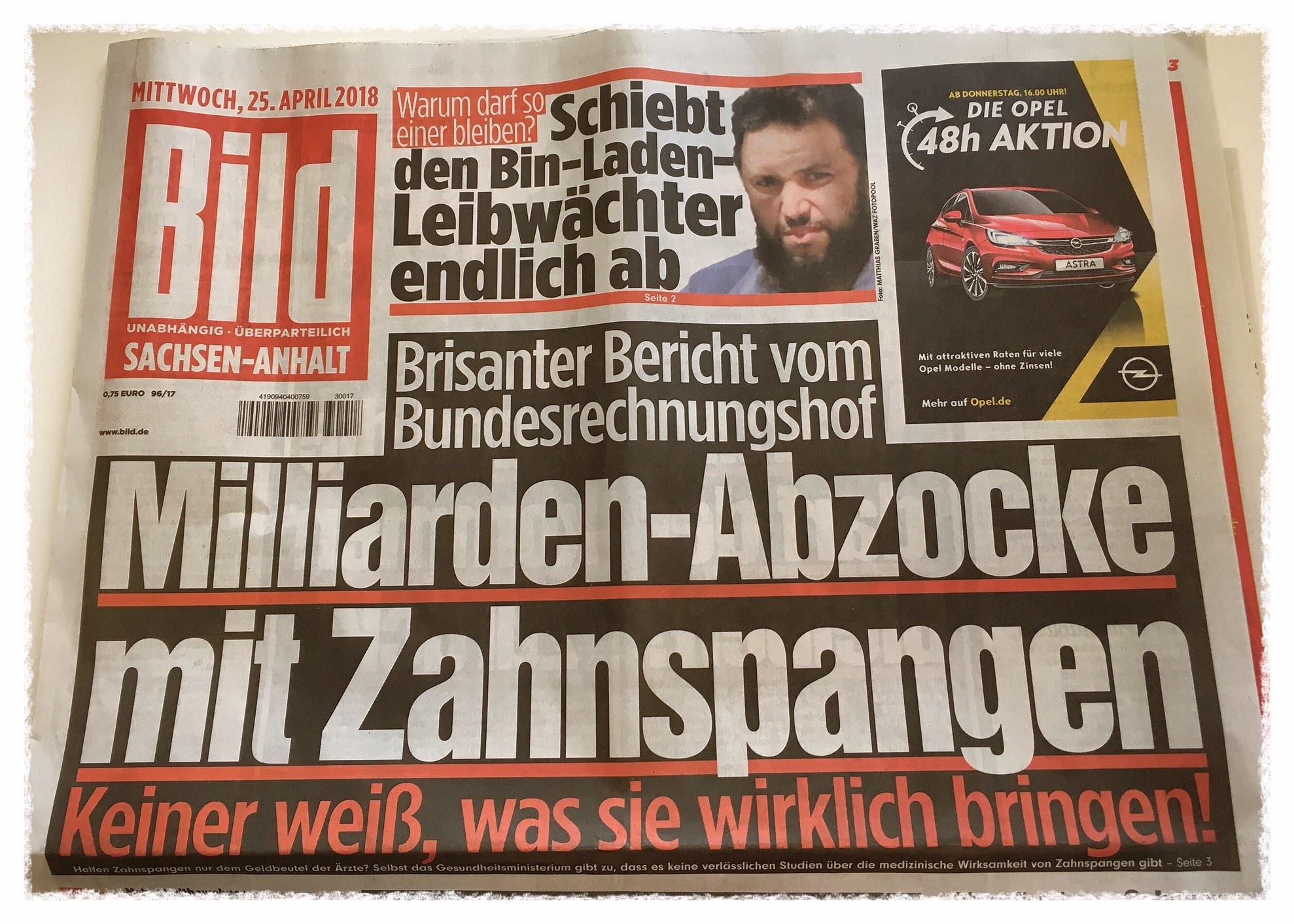 Kieferorthopädie Bild Zeitung Zahngesundheit Halle