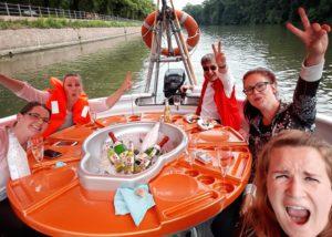 Bootsausflug Feier 10 Jahre Zahngesundheit Halle