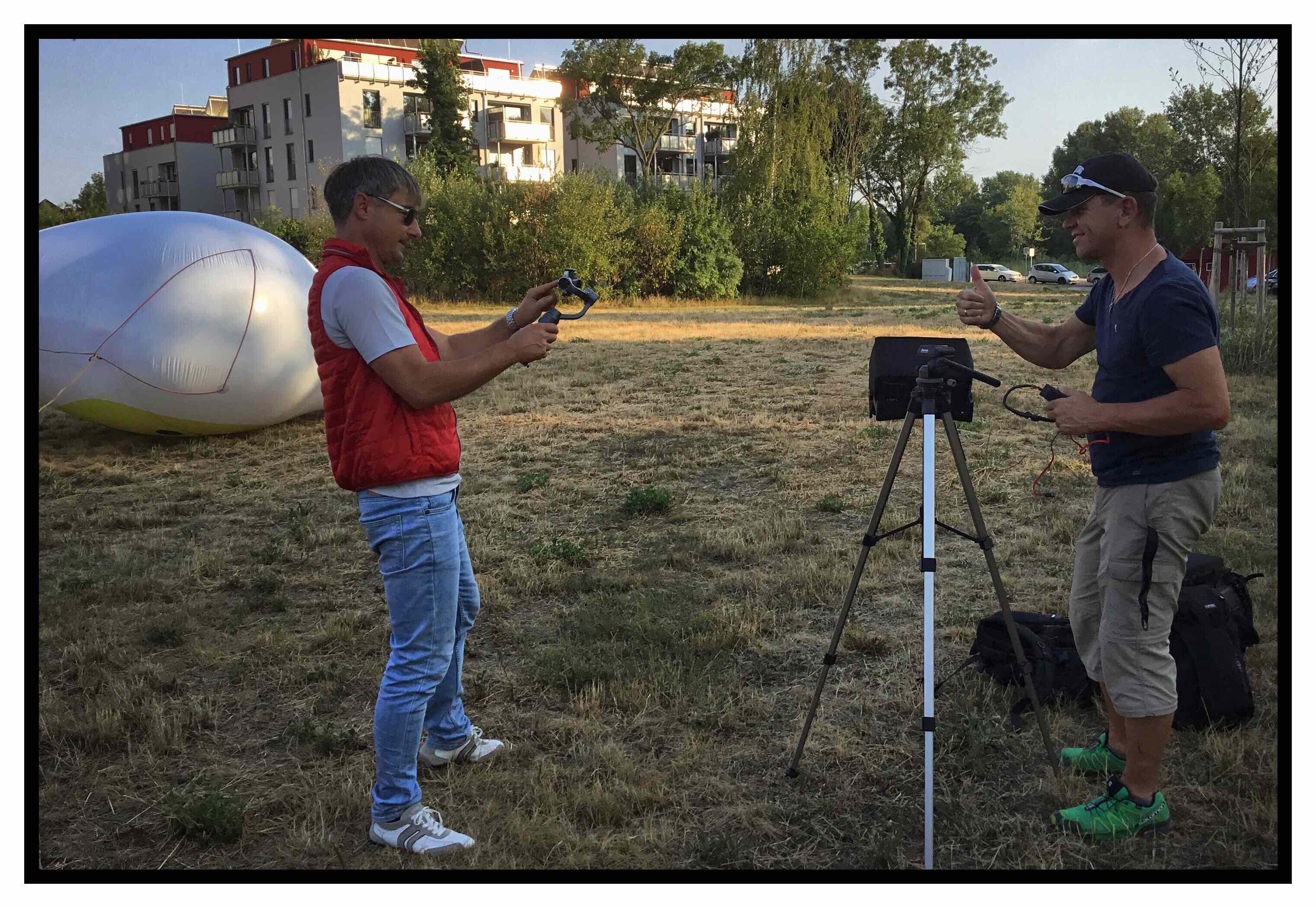 Roger Barz Und Silvio Kelz Dreharbeiten Video Tag Der Zahngesundheit 2018