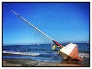 Boot gestrandet Santa Barbara Roger Barz