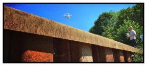 Drohne am Wehr Praxis Zahngesundheit Halle Saale Roger Barz