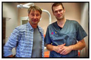 Roger Barz mit Dr. Matthias Lautner in Halle-Neustadt