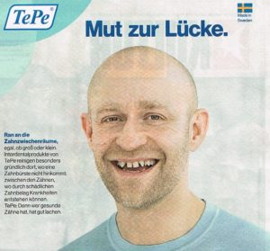 Anzeige Jürgen Vogel TePe