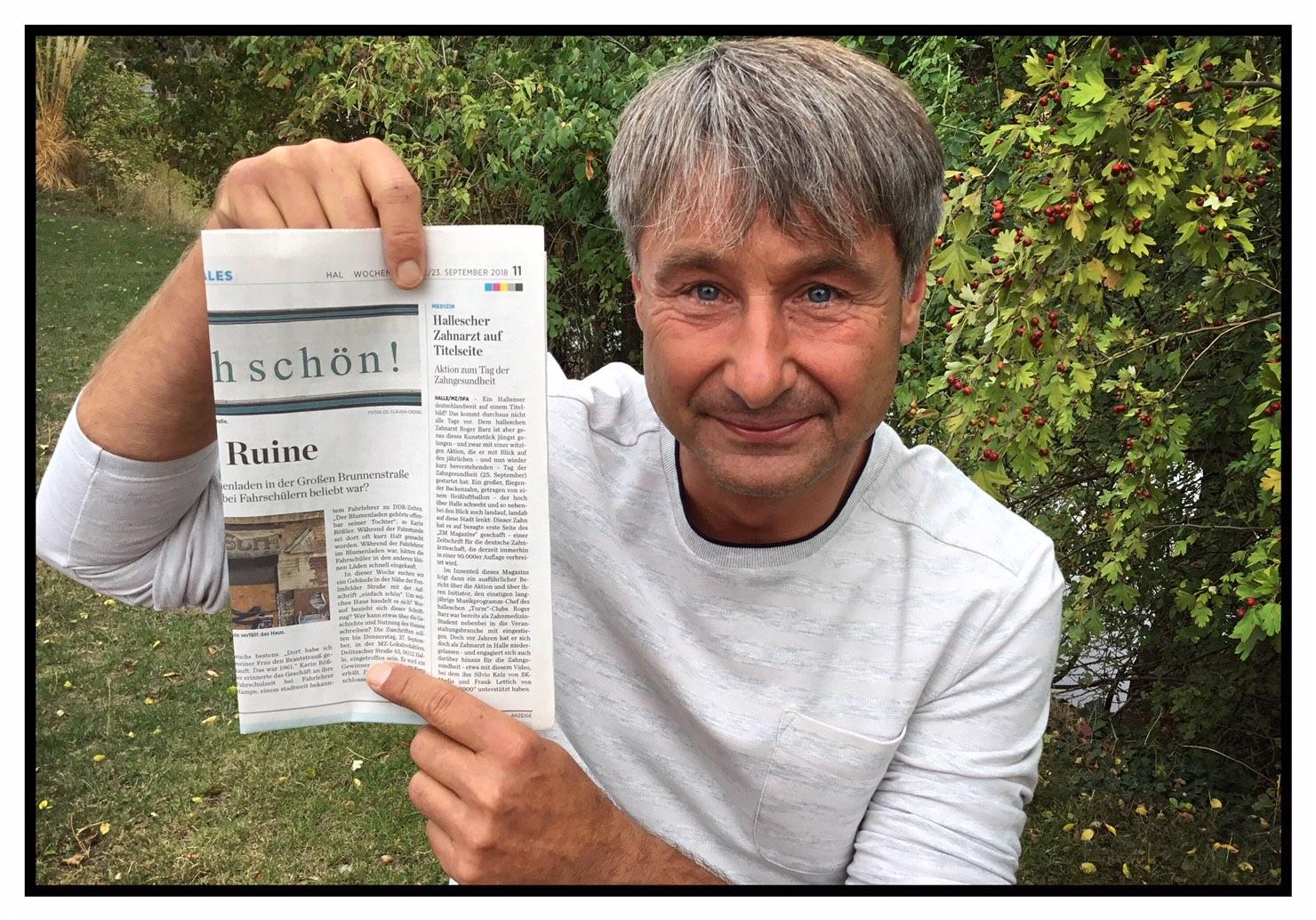 Roger Barz Artikel Mitteldeutsche Zeitung Film Tag Der Zahngesundheit 2018