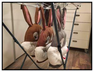 Hasen-in-der Wäsche