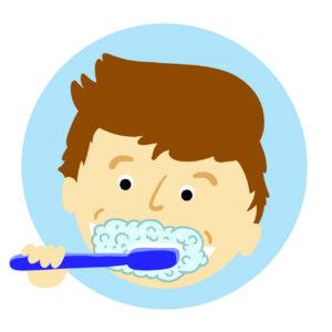 immer schön Zähneputzen Zahngesundheit Halle