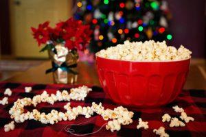 Weihnachtsmarkt Zahngesundheit Halle Schale mit Popcorn