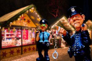 Weihnachtsmarkt Zahngesundheit Halle Polizeiaufgebot