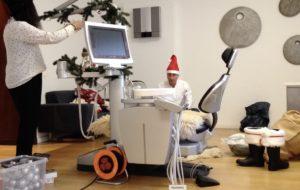 Behandlungsstuhl geschmückt Zahnarzt Roger Barz