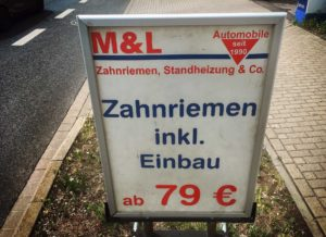 Werbung Autowerkstatt Zahnarzt Roger Barz Halle