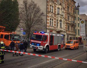 Feuerwehreinsatz Geiststraße Zahnarztpraxis Roger Barz Halle