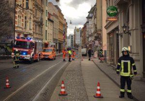 Geiststrasse gesperrt Zahnarztpraxis Roger Barz Halle