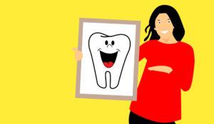 Zeichnung lachender Zahn Zahnarztpraxis Roger Barz Halle Saale