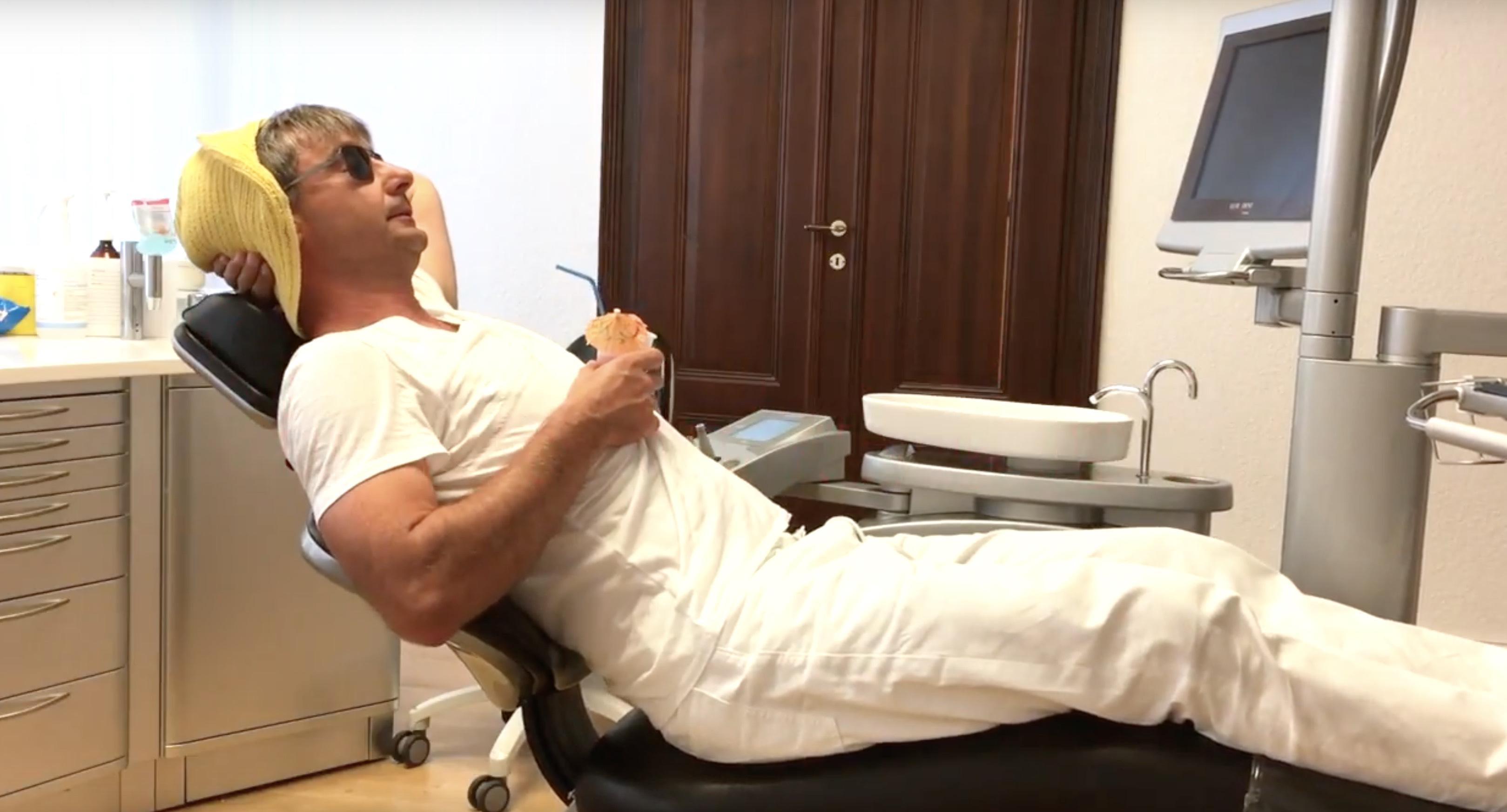 Ein Neuer Zahnarztstuhl