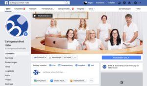 Fanseite Facebook Zahnarztpraxis Roger Barz Halle
