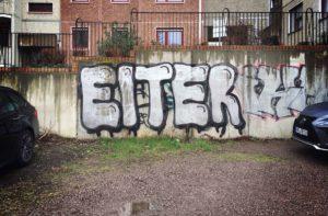 Eiter Graffiti Geiststraße Zahnarzt Roger Barz Halle