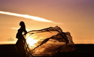 Schwangere Sonnenuntergang Herzensbilder
