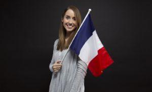 Mädchen mit französischer Flagge Zahnarzt Roger Barz Halle