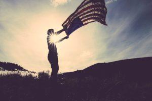 Flagge USA Mann Zahnarzt Roger Barz Halle