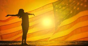 Flagge Mädchen USA Zahnarzt Roger Barz Halle