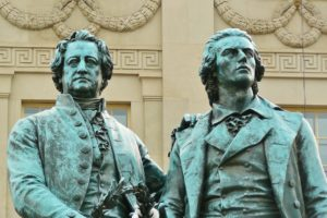 Denkmal Goethe und Schiller Zahnarzt Roger Barz