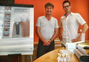 Zahnarzt Roger Barz und Matthias Lautner Implantologie