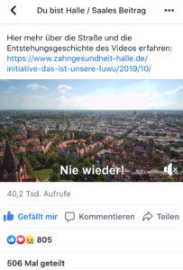 Nie wieder Video Halle Zahnarzt Roger Barz