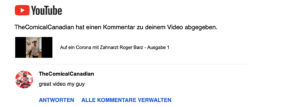 YouTube Kommentar Zahnarzt Roger Barz Halle